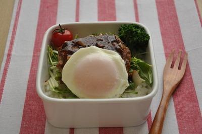 節約弁当レシピ ロコモコ風お弁当