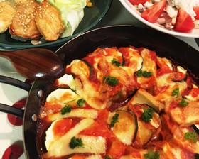 厚揚げのトマトチーズ焼き